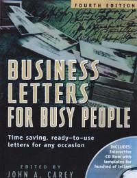 نامه های اداری برای افراد پر مشغله /Business Letters for Busy People