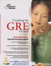 Cracking the GRE 2009 Edition