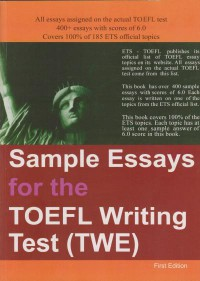 Sample Essays for the TOEFL WRITING tTest - TWE