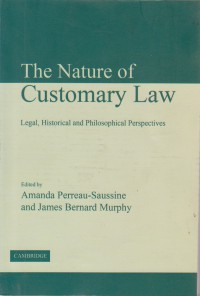 The nature of customary Law(افست)