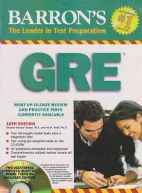 BARRONS The in Test Prepartion GRE