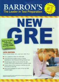 NEW GRE BARRON\'S (EDITION 19)