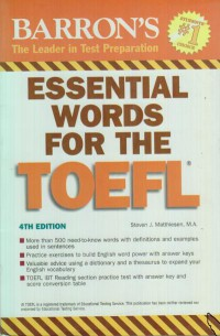 BARRON\'S ESSSENTIIAL WORDS FOR THE TOEFL