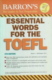 BARRON\'S ESSSENTIIAL WORDS FOR THE TOEFL