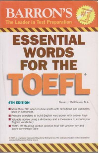 ESSETIAL WORDS TOFEL